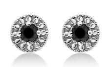 1/4 Cttw Black Diamond Stud Earring in Sterling Silver