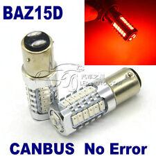 2x BAZ15d 7225 P21/4W CANBUS RED 27LEDs CAR STOP TAIL BRAKE LIGHT DUAL FILAMENTS