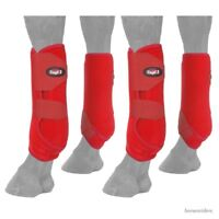 Horse Protective Sport Boots - Extreme Vented -Fronts & Rears - Red - Large
