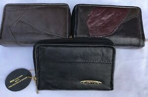 New  Genuine Patchwork  Soft Real  Leather Ladies  Purse Coin Pouch 6