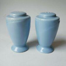 "Homer Laughlin Serenade Blue Salt and Pepper Mid Century 1939 Vintage 3.5"""