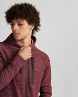 Express MENS XL Maroon Dark Red Zip Up HOODIE Athletic Fleece Sweatshirt NWT