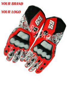 Nicky Hayden 69 D1 MotoGP Motorbike Leather Gloves All Sizes Available