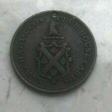 1858-59 Broadway New York Samuel Hart Card Counter Token