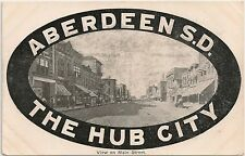 View on Main Street in Aberdeen SD The Hub City Postcard