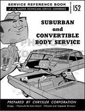 1960 Convertible Top Service Manual 60 Plymouth Fury Dodge Phoenix and Polara