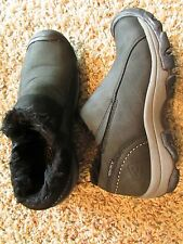KEEN WATERPROOF BLACK LEATHER SHOES WOMENS 6.5 FUR LINED FREE SHIP