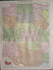 1940 mappa ~ Stati Uniti centrale ~ Colorado KANSAS DAKOTA NEBRASKA Wyoming
