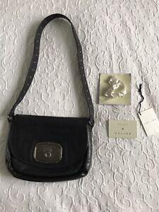 CELINE 2005 Balladine large £455 Black Studs Shoulder Bag RARE