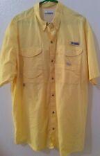 Men's Columbia PFG Shirt. Yellow Performance Fishing Gear XL