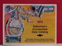1972 Chevrolet Salesman's Accessories Data Catalog -  Full-Line