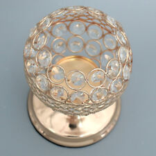 6.7'' Globe Crystal Votive Tealight Candlestick for Wedding Centerpieces S