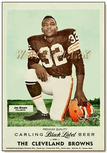 JIM BROWN CARLING BLACK LABEL POSTER PRINT (comes in 4 sizes)