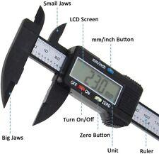 150mm 6 Inch LCD Digital Electronic Carbon Fiber Vernier Caliper Gauge Micromet
