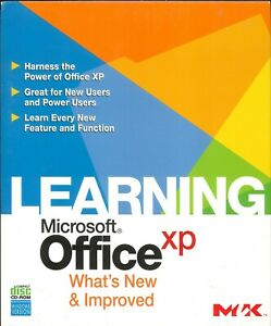 Learning Microsoft Office XP PC CD ROM SOFTWARE Sealed
