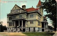 Stockton CA El Dorado Grammar School Postcard unused 1900s/10s