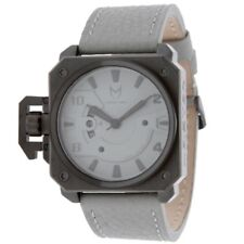 Meister Chief Watch Gunmetal/Gray Leather NEW in box
