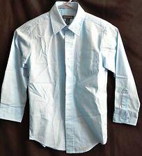 Boys Button-down long-sleeved shirt in Light Blue  Size 8 (Medium)