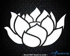 Lotus Flower Cute Girly Car Decal / Laptop Sticker - WHITE 5""