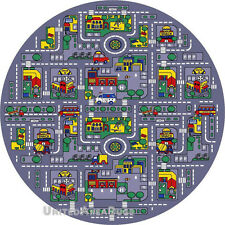 round street map kids teens rugs ebay. Black Bedroom Furniture Sets. Home Design Ideas
