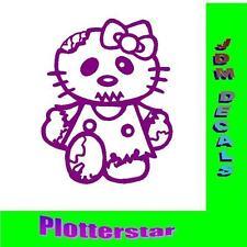 Hello KITTY zombie JDM OEM like autocollant sticker shocker Geil Bitch Domo