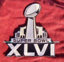 Super Bowl Superbowl 46 XLVI Patch New York Giants vs New England Patriots