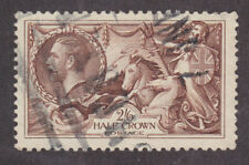 Great Britain Sc 179 used 1919 2sh6p olive brown Seahorses
