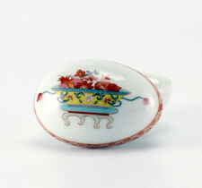 Bernardaud Limoges Egg Form Trinket or Pill Box, France Fou Tcheou Chinois