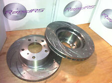 FORD BA BF FG SLOTTED DISC BRAKE ROTORS SLOTTED ULTIMATE PERFORMANCE FRONT PAIR