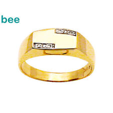 Men's flat top Diamond 9ct 9k Solid Yellow Gold Ring Size U 10.25 23951