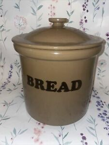 Pearsons of Chesterfield vintage brown stoneware bread bin.