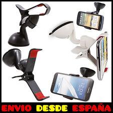 SOPORTE UNIVERSAL CON VENTOSA PARABRISAS PARA MOVIL GPS COCHE SAMSUNG IPHONE HTC
