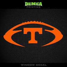"Tennessee- Volunteers - Football - NCAA - Orange Vinyl Sticker Decal 5"""