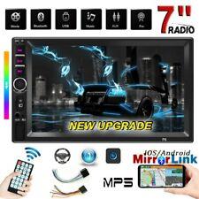 "7"" HD Autoradio 2 Din Video Estéreo Pantalla táctil  Bluetooth USB SD Coche MP5"