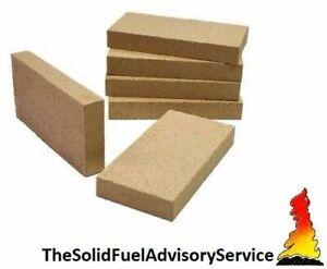 "10 x Vermiculite Stove Pizza Oven Bricks stove fire brick 4.5"" x 9"" x 1"""