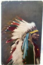 1910 POSTCARD CHIEF HOLLOW HORN BEAR, SIOUX INDIAN