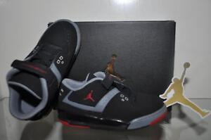 Air Jordan Flight 23 Basketball Shoes Boys Toddler 317823 021 Black/Red/Gray NIB