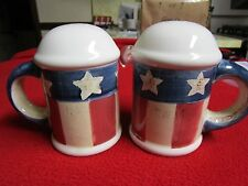 Nantucket Usa Patriotic American Flag Salt and Pepper Shakers Outdoors Indoors