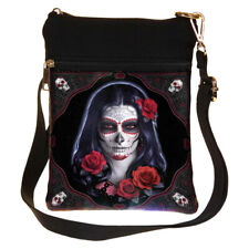 Day of the Dead Sugar Skull School Shoulder Messenger Bag Gothic Accessories