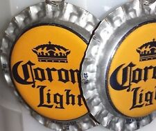 Corona Light Beer Bottle Cap Earrings Handmade New