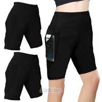 AGI Women Running Workout Fitness Yoga Pants High Waist Tummy Control Pockets