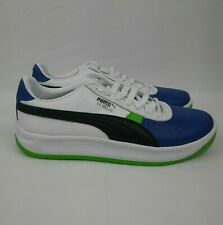 PUMA GV Special + ColorBlock Sneakers Shoes White Black Green Blue Mens Size 9.5