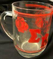 Phi Sigma Kappa, VINTAGE glass mug, RARE