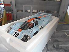 PORSCHE 917 L Langheck Gulf Le Mans 1971 #18 Oliver Rodriguez Wye CMR Resin 1:18