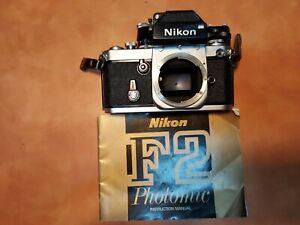 Nikon F2 #7200796 body w/DP-1 viewfinder w/A split image screen,  AS-1 hot shoe