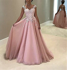 Long Prom Dresses Wedding Bridesmaid Formal Party Dress Evening Ball Gown Plus