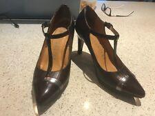 Hispanitas t-strap leather heels pumps size 36/6