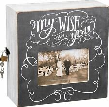My Wish For You~Newlyweds Wood Money/Gift Card Box~Wedding/Marriage/Picture Hold
