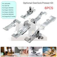 6pcs Overlock Presser Foot Set Kit Sewing Machine Parts for Juki MO-50E  ❤
