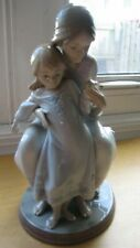 1527 Lladro Tenderness Porcelain Mother And Dauther Retired Figurine Statue